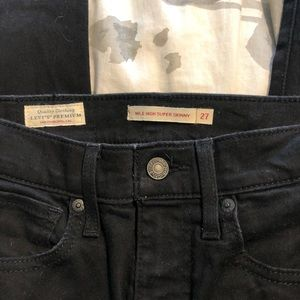 Mile high super skinny Levi jeans